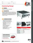 CPG Countertop Ranges