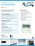 360CFM2 Avantco Countertop Freezer Specsheet