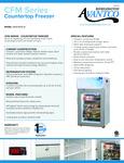 360CFM2LB Avantco Countertop Freeze Specsheet