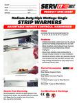 423SWI Servit Strip Warmers Specsheet