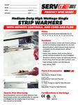 423SWICP Servit Strip Warmers Specsheet