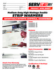 423SWID Servit Strip Warmers Specsheet