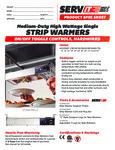 423SWT Servit Strip Warmers Specsheet