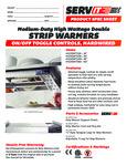 423SWTD Servit Strip Warmers Specsheet