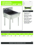 600SMFS2124 Stainless Steel One Compartment Mop Sink