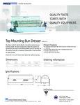 628511 Top Mounting Bun Dresser Spec Sheet
