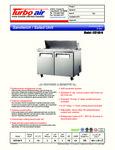Turbo Air EST-60-N Spec Sheet