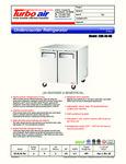 Turbo Air EUR-36-N6 Spec Sheet