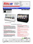 Turbo Air TCGB-72 Spec Sheet