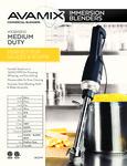 928ISB10 Medium Duty Immersion Blender Specsheet