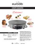 Eurodib CEEB41-120, CEEB42-208 Crepe Maker Specsheet