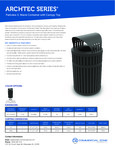 ArchTec 3 Waste Bin with Canopy Specs