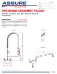 Assure 1.15 GPM Wall-Mounted Pre-Rinse Assembly with 8 Centers and 12 Add On Faucet Spec Sheet