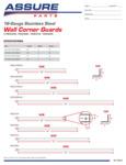 Assure Parts 16-Gauge Stainless Steel Wall Corner Guards Spec Sheet