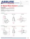 Assure Parts 190P Swivel Caster Specsheet