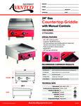 Avantco 177AG24MG Countertop Griddle Specsheet