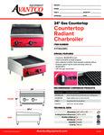 Avantco 177AG24RC Countertop Radiant Charbroiler Specsheet