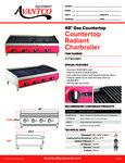 Avantco 177AG48RC Countertop Radiant Charbroiler Specsheet