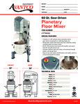 Avantco 177MX60 Planetary Floor Mixer Specsheet