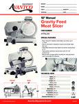 Avantco 177SL310 Gravity Feed Meat Slicer Specsheet
