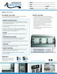 Avantco 178DLC64HCW Specsheet
