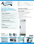 Avantco A-19F-HC 29 Solid Door Reach-In Freezer Specsheet