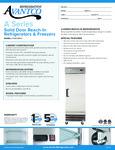 Avantco A-19R-HC 29 Solid Door Reach-In Refrigerator Specsheet