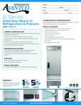 Avantco A-23R-HC 29 Solid Door Reach-In Refrigerator Specsheet