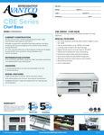 Avantco CBE-52-HC 52 2 Drawer Refrigerated Chef Base Specsheet