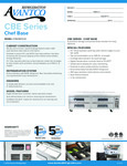 Avantco CBE-72-HC 72 4 Drawer Refrigerated Chef Base Specsheet