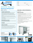 Avantco Refrigeration SSWD1RA Worktop Refrigerator Specsheet