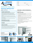 Avantco Refrigeration SSWD260RC Worktop Refrigerator Specsheet