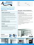Avantco Refrigeration SSWD3RH Worktop Refrigerator Specsheet