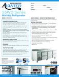 Avantco Refrigeration SSWD3RJ Worktop Refrigerator Specsheet