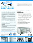 Avantco Refrigeration SSWD3RK Worktop Refrigerator Specsheet