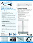 Avantco SS-2F-4-HC 54 Stainless Steel Solid Half Door Reach-In Freezer Specsheet