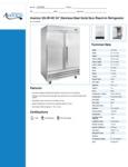 Avantco SS-2R-HC 54 Solid Door Reach-In Refrigerator Specsheet