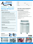 Avantco SS-WT-27R-HC 27 Worktop Refrigerator with 3 1-2 Backsplash Specsheet