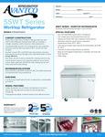 Avantco SS-WT-36R-HC 36 Worktop Refrigerator with 3 1-2 Backsplash Specsheet