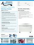 Avantco SS-WT-60F-HC 60 Two Door Worktop Freezer with 3 1-2 Backsplash Specsheet