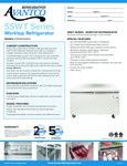 Avantco SS-WT-60R-HC 60 Two Door Worktop Refrigerator with 3 1-2 Backsplash Specsheet