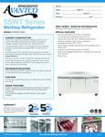 Avantco SS-WT-72R-HC 72 Three Door Worktop Refrigerator with 3 1-2 Backsplash Specsheet