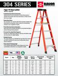 Bauer 304 Series - Type 1A Fiberglass Step Ladder SS
