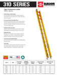 Bauer 310 Series Extension Ladders