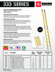 Bauer 333 Series Ladders SS