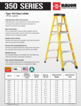 Bauer 350 Series - Type 1AA Fiberglass Step Ladder SS