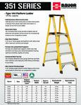 Bauer 351 Series - Fiberglass Platform Ladder Series SS