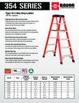 Bauer 354 Series - Fiberglass 1A Two-Way Ladders SS
