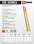Bauer 85231516 315 Series Ladders SS