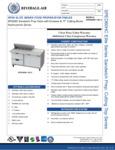 Bev Air SPED60HC-10C-2 Specsheet